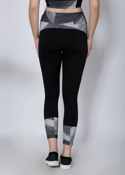 Black Silver Convex-Cut Tights