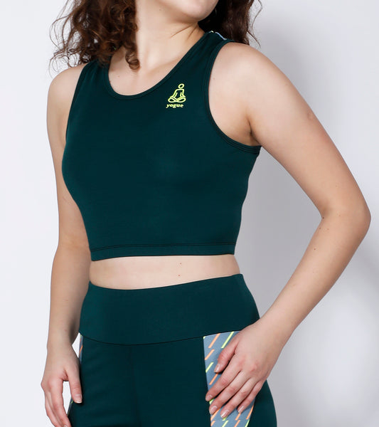 Green Dashed Compression Top