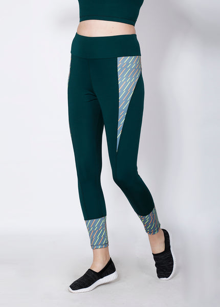 Shop The Look - Compression Top + Leggings - Green Dashed
