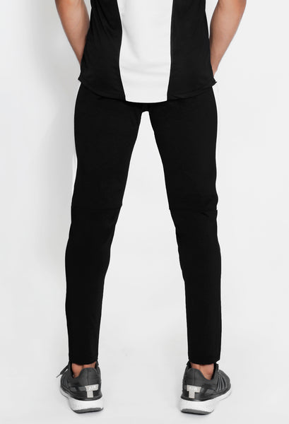 Black & White Men's Running Tights