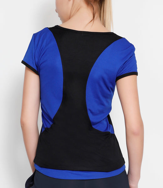 Black Blue Racerback T-Shirt