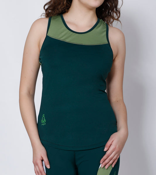 Bottle Green Racerback Tank-Top