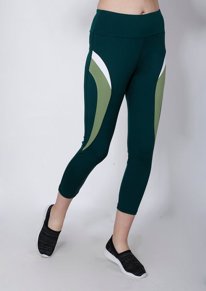 Bottle Green 7/8th tights