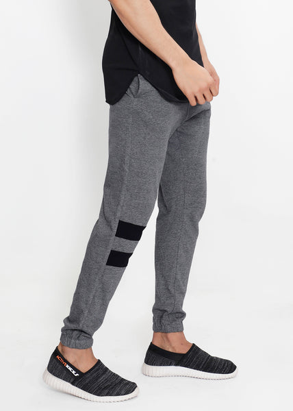 Grey Stripes Cotton Joggers