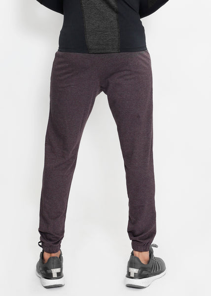 Cherry Brown Cotton Joggers