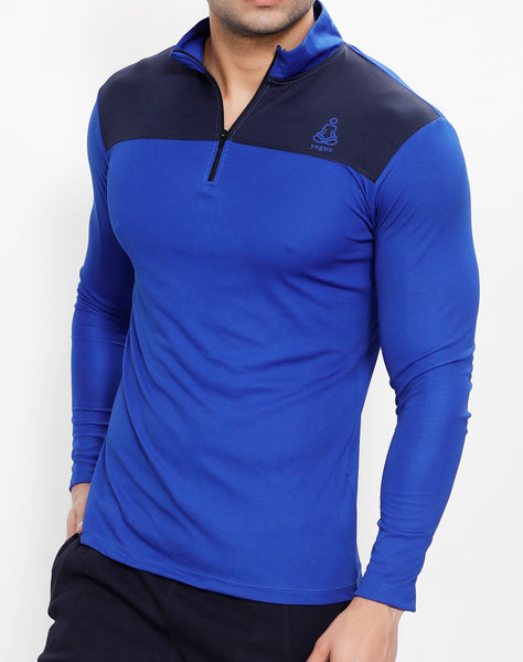 Royal Blue Half Zipper