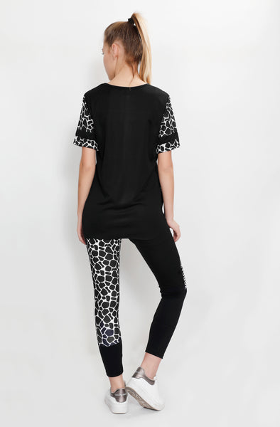 Black Python Long T-Shirt
