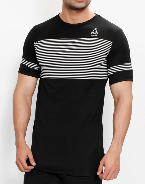 Black & White Stripes Long T-Shirt