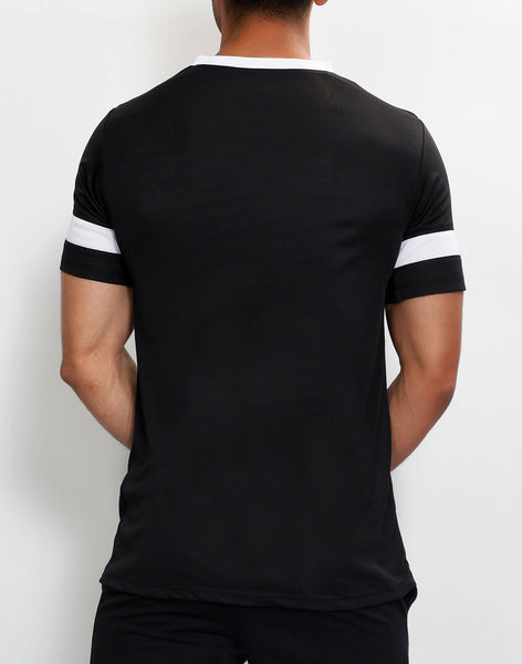 Black & White V-Neck T-Shirt