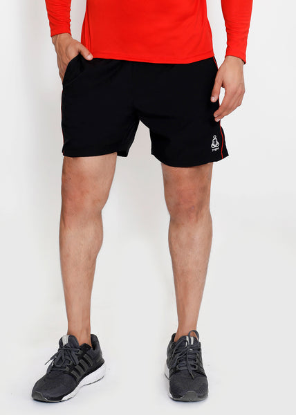 Black Red Detail Running Shorts