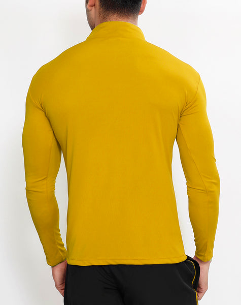 Mustard Black Half Zipper