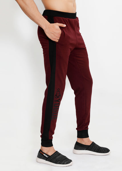 Cherry & Black French Terry Joggers