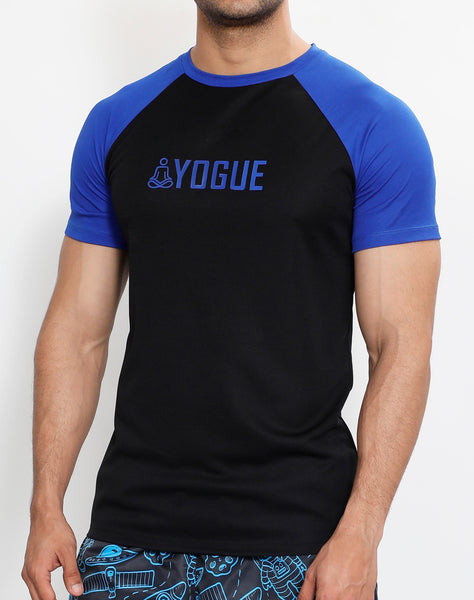Black & Royal Blue Half Sleeve T-Shirt