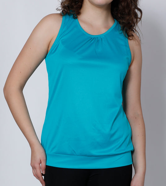 Turquoise Comfort Fit Tank Top