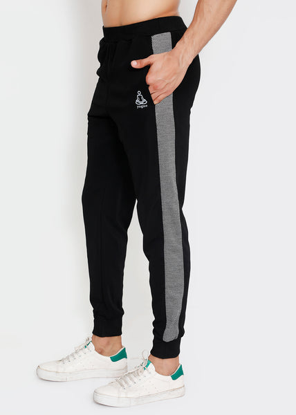 Black Grey French Terry Joggers