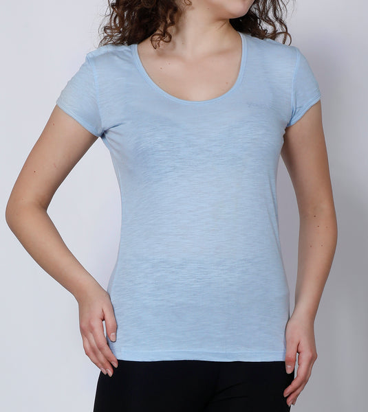 Sky Round-neck Cotton T-Shirt