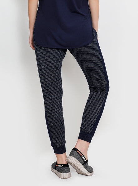 Navy & Grey Stripes Joggers