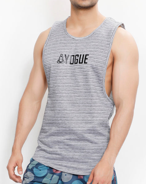 Sky Grey Stripes Tank