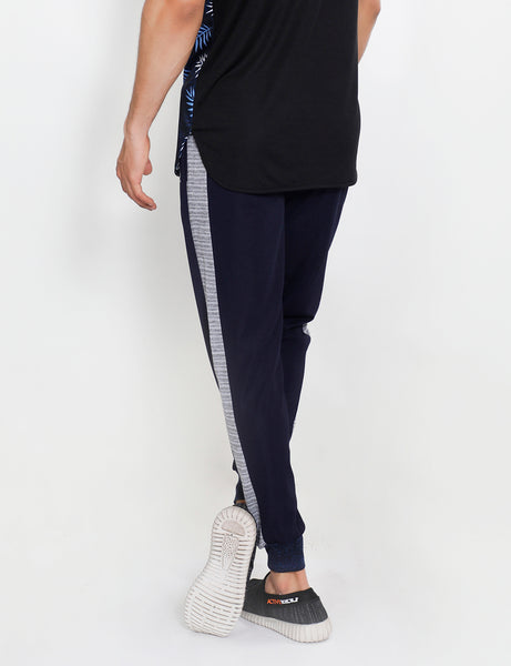 Navy Grey French Terry Joggers