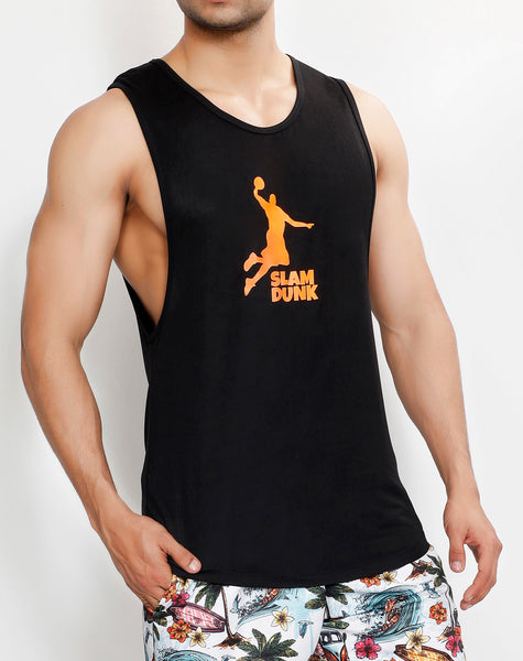Black Orange Slam Dunk Tank