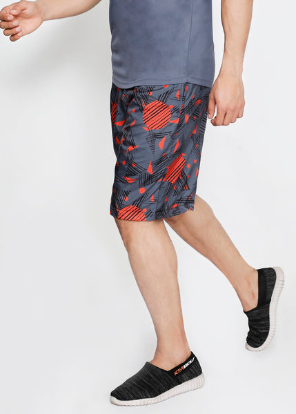 Red & Grey Boardshorts