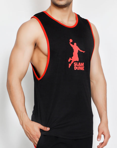 Black Red Slam Dunk Tank