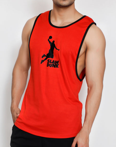 Red & Black Slam Dunk Tank