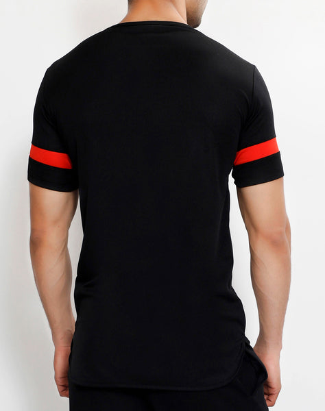 Black Red Long T-Shirt