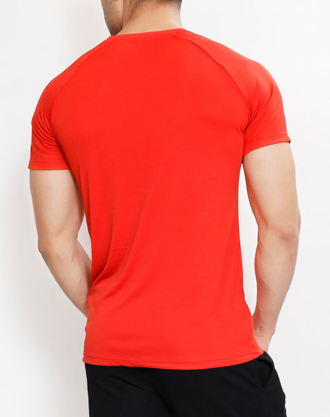 Red & White Roundneck T-Shirt