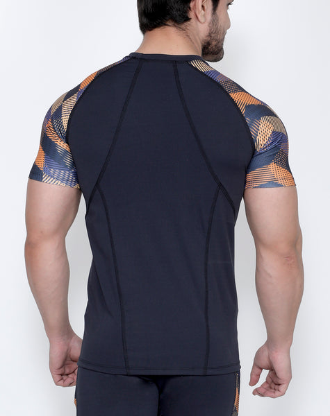 Graphite Crisscross Compression T-Shirt