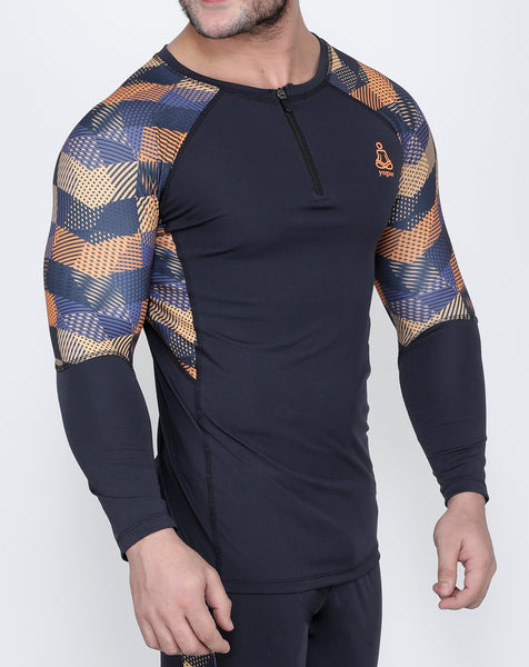 Graphite Crisscross Full Sleeve Compression