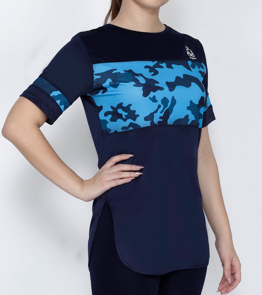 Navy Cobalt Long T-Shirt