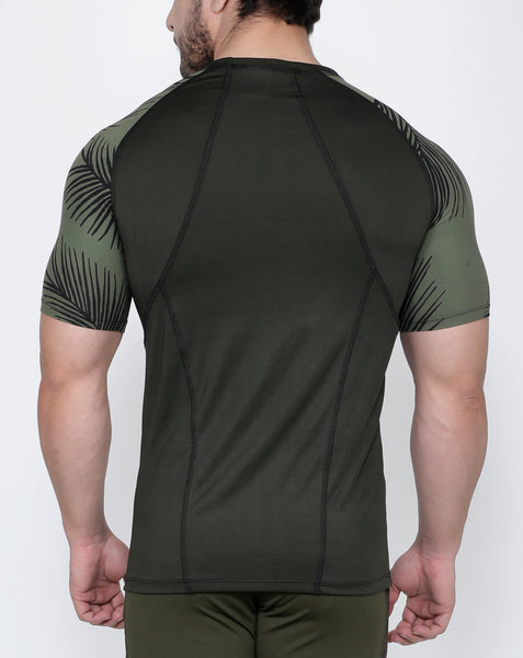 Olive Leaves Compression T-Shirt