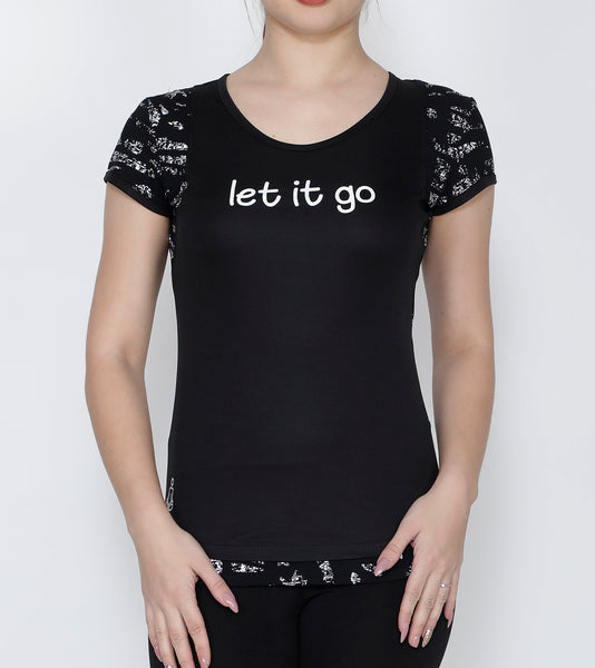 Black Let it Go Racerback T-Shirt