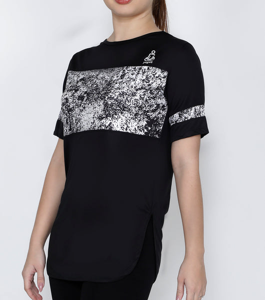 Black & White Spraypaint Long T-Shirt