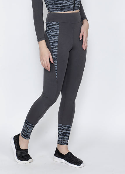 Grey Waves Convex-Cut Tights