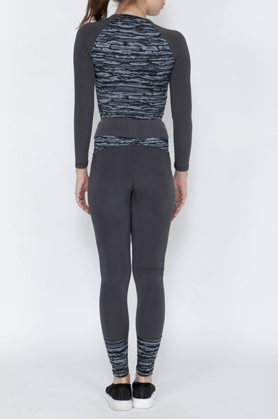 Shop The Look - Crop Zipper + Tights - Grey Waves