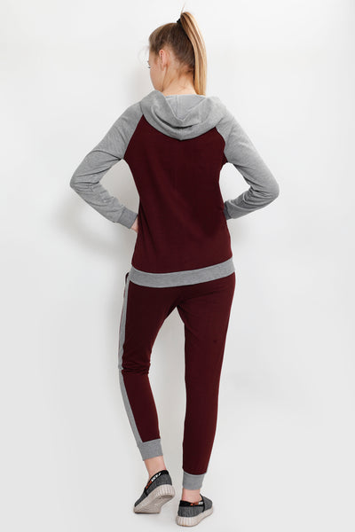 Cherry and Grey Tracksuit