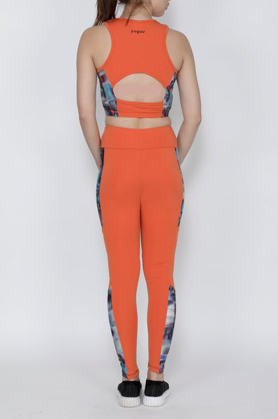 Shop The Look - Compression Top + Tights - Orange Hazy