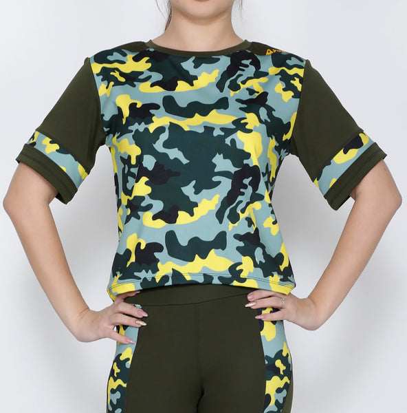 Olive Marine Crop Top