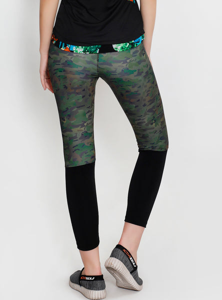 Camo Black 2Tone Tights