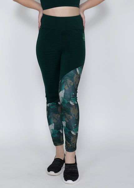 Leafy Green SlantCut Tights