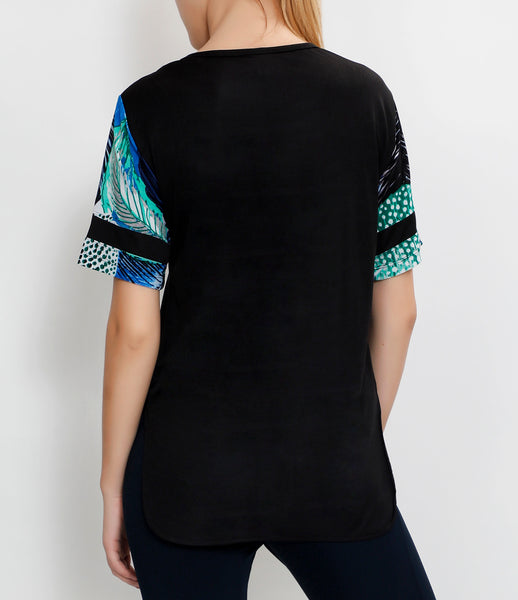 Black Illusion Long T-Shirt