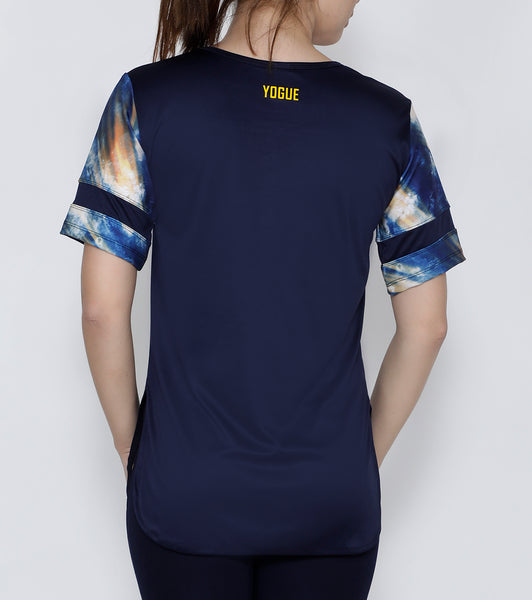 Navy Let it Go Long T-Shirt