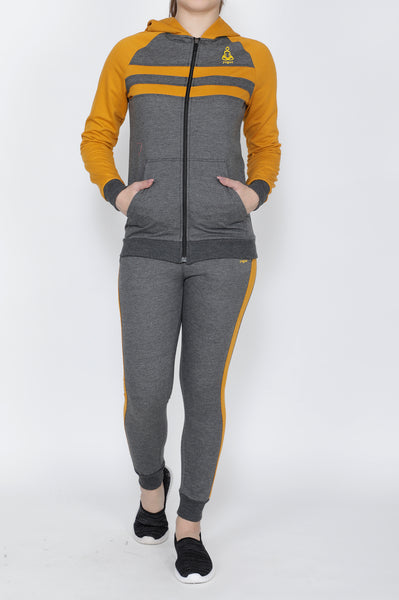 Grey and Mustard Tracksuit