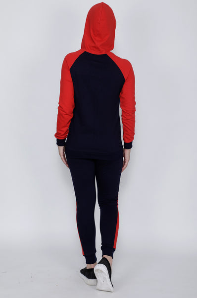 Navy and Red Stripes Tracksuit