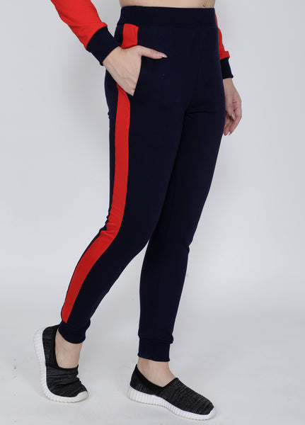 Navy Red Joggers