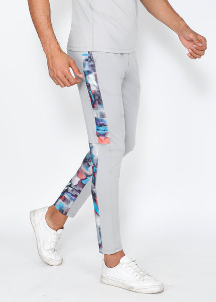 Grey Azure Slim-Fit Trackpants