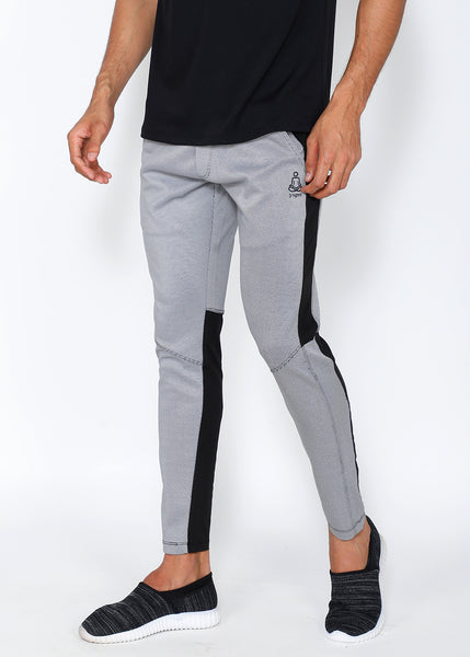 White & Black Slim-Fit Trackpants