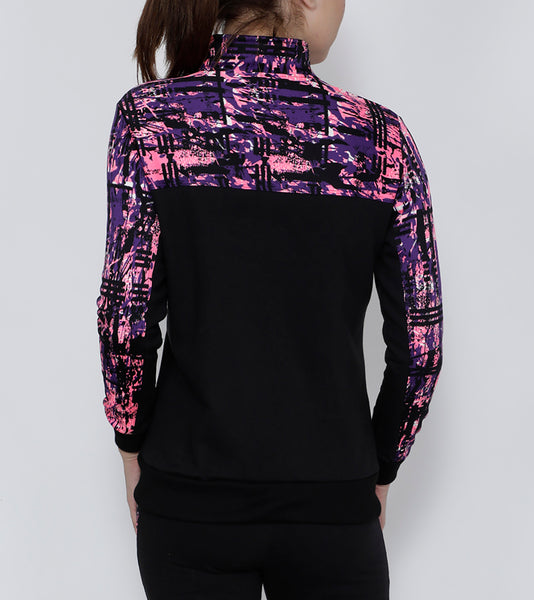 Black & Pink Slim Fit Jacket